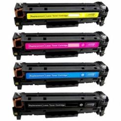Compatible 4-pack hp 202x high yield laser toner cartridges (black, cyan, magenta, yellow)