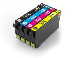 Remanufactured Bulk Set of 4 Ink Cartridges for Epson 812XL: 1 Each of HY Black, Cyan, Magenta & Yellow