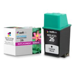Replacement for Hewlett Packard 51626A (HP 26 Black) Ink Cartridge