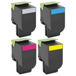 Compatible Lexmark CS/CX725 (Black, Cyan, Magenta, Yellow) Laser Toner Cartridge Set of 4