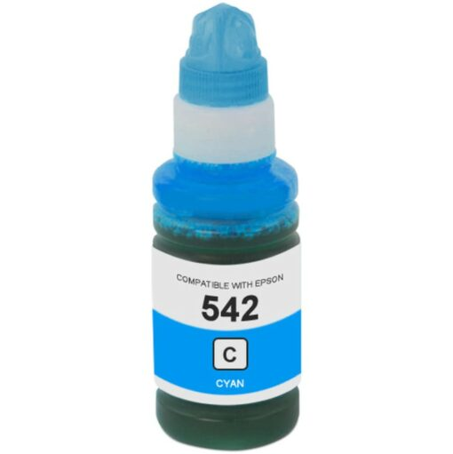 Compatible Epson 542 (T542220) Cyan Ink Bottle (70 mL)
