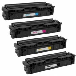 Compatible canon 054h (black, cyan, magenta, yellow) set of 4 high yield toners