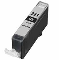 Compatible canon cli-221 black ink cartridge w/ chip