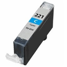 Compatible canon cli-221 cyan ink cartridge w/ chip