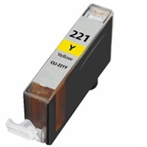 Compatible canon cli-221 yellow ink cartridge w/ chip