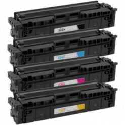 [no chip] hp 206x compatible high-yield toner cartridge 4-piece combo pack