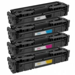 Compatible hp 215a compatible toner cartridge 4-piece combo pack (no chip)