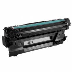 Compatible hp 657x (cf470x) high-yield black toner cartridge