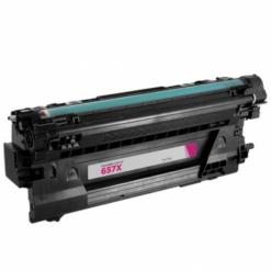 Compatible hp 657x (cf473x) high-yield magenta toner cartridge